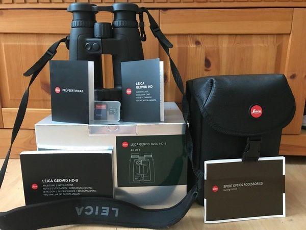 Leica geovid 8x56 hd b entfernungsmesser und ballistikfunktion in