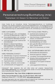 Personalverrechnung/Buchhaltung