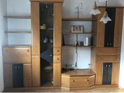 Wohnzimmer Schrank Schrankwand Holz Top-Zustand