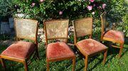 Antike Stühle, gepolstert,
