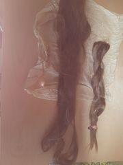 Deutsches Echthaar braun langes Haarteil